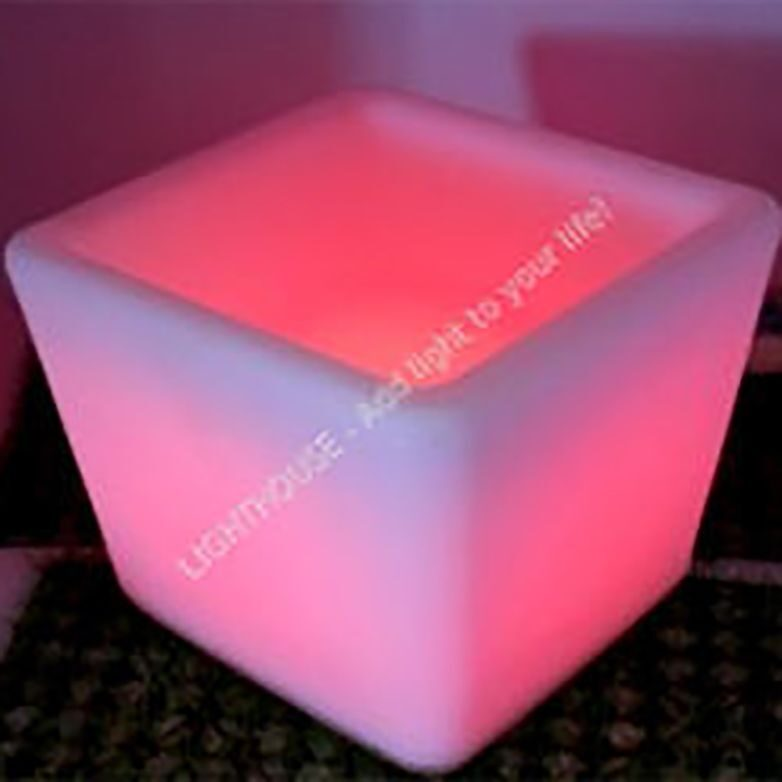 Светящееся Led ведерко для льда Large square ice bucket
